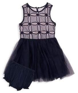 Baby Girl's Two-Piece Mesh Tutu Dress & Bloomers Set