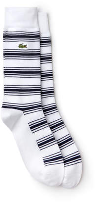 Lacoste Men's Striped Stretch Cotton Socks