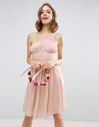 Asos Design Bridesmaid One Shoulder Dress