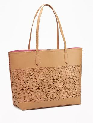 Laser-Cut Tote for Women $39.94 thestylecure.com