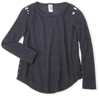 Erge Girls 7-16) Side Tape Sweater