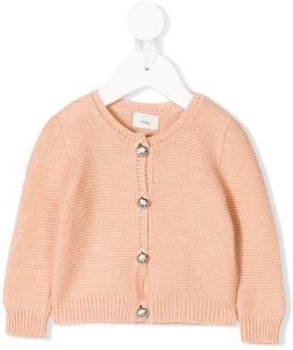 Fendi round neck knitted cardigan