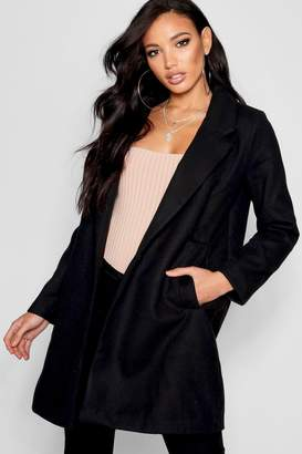 boohoo Oversized Button Wool Look Coat