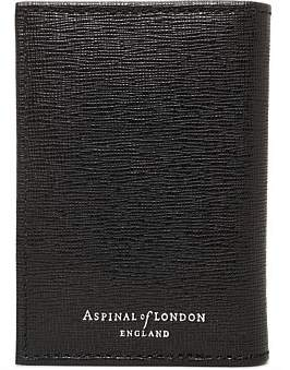 Aspinal of London Leather Double Credit Card Case