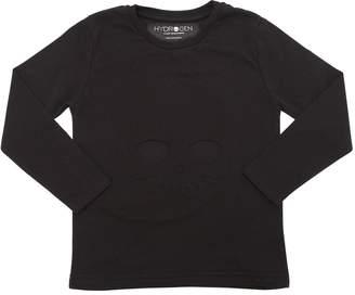 Skull Embossed Cotton Jersey T-Shirt