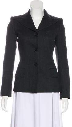 Dolce & Gabbana Virgin Wool Herringbone Jacket