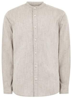 Topman Mens SELECTED HOMME Brown Long Sleeve Shirt