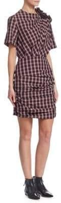 Etoile Isabel Marant Oria Cotton Ruched Sheath Dress