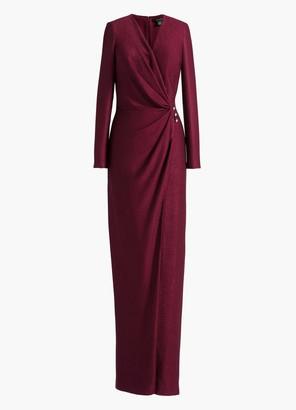 St. John Shimmer V-Neck Gown