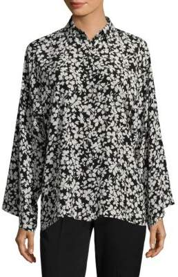 Michael Kors Silk Floral Blouse