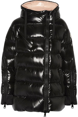 Moncler - Liriope Quilted Glossed-shell Down Hooded Coat - Black $1,665 thestylecure.com