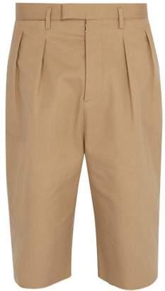 Maison Margiela Raw Hem Shorts - Mens - Beige