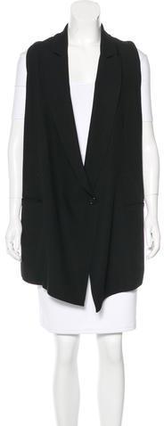 Ann DemeulemeesterAnn Demeulemeester Longline Virgin Wool Vest