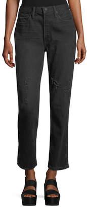 Vince High-Rise Straight-Leg Jeans
