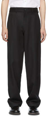 Comme des Garcons Black Carded Wool Gabardine Trousers