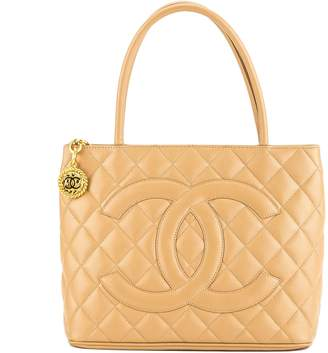 Chanel Beige Quilted Caviar Leather Medallion Tote Bag (3788006)
