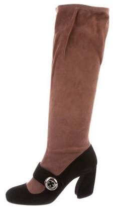 Prada Suede Knee-High Boots w/ Tags