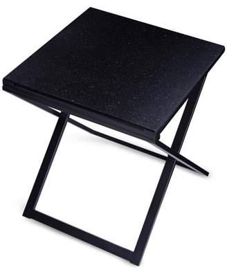 GranRest Granite Top Side Table, Modern Black