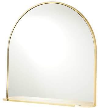 Pottery Barn Teen Half Round Mirror with Ledge, Brass