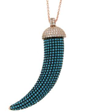 Cosanuova Pave Horn Necklace