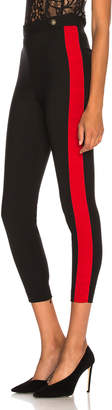 Alexander McQueen High Waisted Military Stripe Trousers