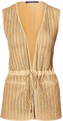 Ralph Lauren Tracy Leather-Linen Vest $2,990 thestylecure.com