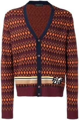 Prada intarsia stripe cardigan