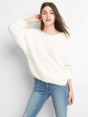 Gap Boatneck feathered yarn sweater