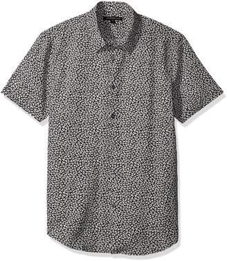 John Varvatos Men's Printed Short Sleeve Slim Fit Shirt