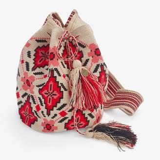 Guanabana Handmade Large Wayuu Bag Red & Black