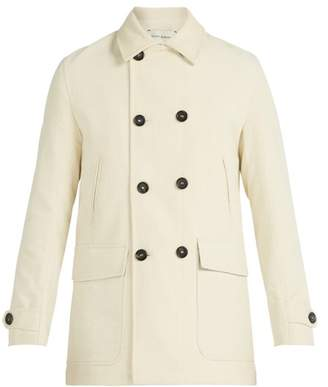 Oliver Spencer Clerkenwell Double Breasted Corduroy Jacket - Mens - Cream