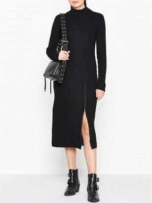 Gestuz Rama Rib Zip Detail Dress - Black