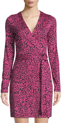 Diane von Furstenberg Julian Banded Mini Wrap Dress