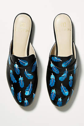 Alepel Cobalt Feather Slides