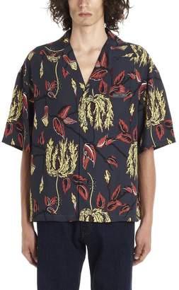 Prada Printed Logo Patch Shirt