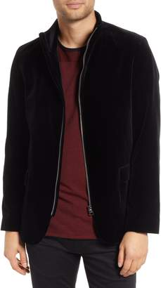 HUGO Apino Slim Fit Velvet Zip Sport Coat