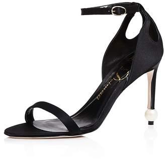 Delman Jemm Ankle Strap High Heel Sandals $448 thestylecure.com