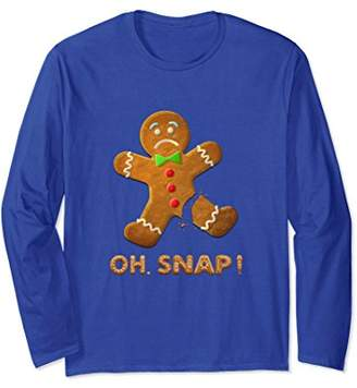Oh Snap! Funny Gingerbread Christmas Long Sleeve Sweater