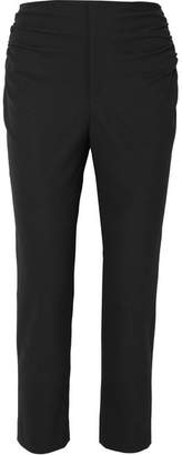 Jacquemus Le Corsaire Cropped Ruched Woven Skinny Pants - Black
