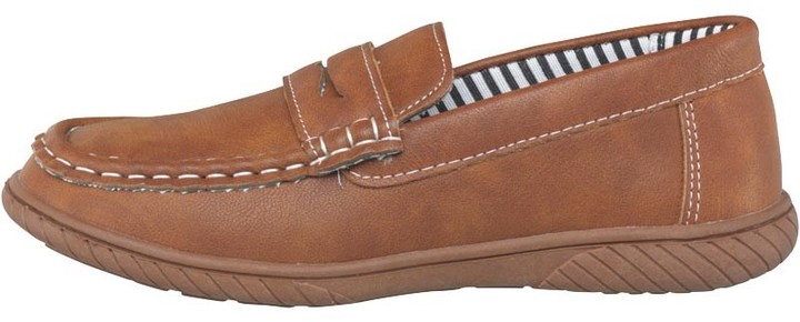 Mad Wax Junior Boys Penny Loafer Shoes Tan