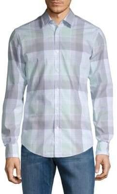 HUGO BOSS Ronni Plaid Button-Down Shirt