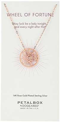 Dogeared Petal Box' -Plated Good Luck Token Charm Necklace