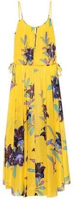 Diane von Furstenberg Floral-printed cotton and silk dress