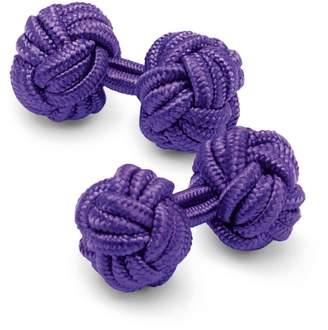 Purple Knot Cufflinks by Charles Tyrwhitt