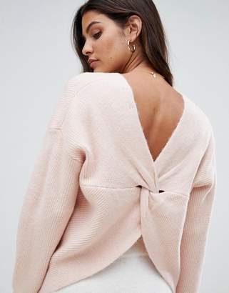 Micha Lounge Wrap Back Sweater