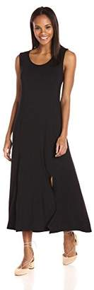 Tiana B Women's Solid Jersey Slit Midi Tank Dress