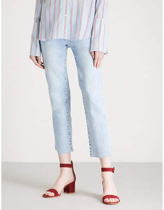 Paige Hoxton Straight Crop high-rise jeans
