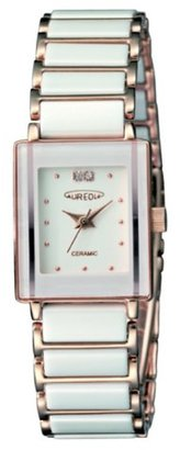Aureole オレオール) オレオール腕時計 ユニセックス腕時計 約H28.5×W18.5×T7.0mm 約54g ステンレスIPP・白セラミック・白文字板(SW-495L-4)