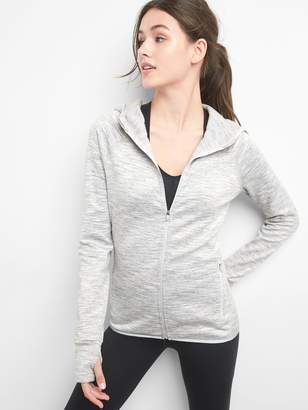 Gap GapFit Orbital reflective fleece zip-up hoodie