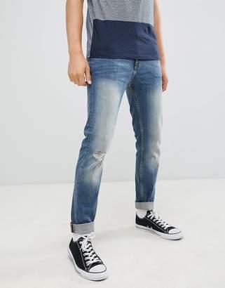 Burton Menswear tapered fit jeans in blue